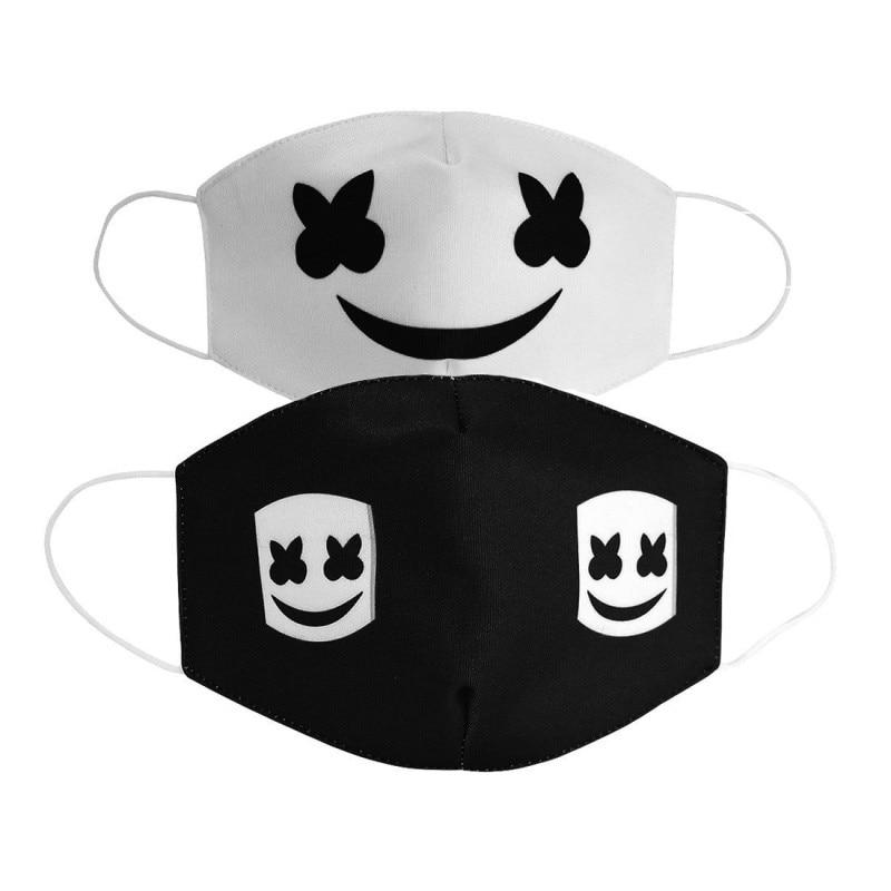 2020 Cotton Dustproof Woman Men Kids Mouth Masks Black Mask Mouth DJ Cartoon Half Muffle Face Cover ZXT207