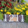 Домашний номер 101 мм, фланцевое крепление, матовый никель, металлический номер, номер двери, винт, установленный наружный знак адреса #0-9