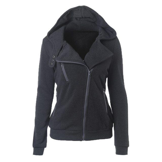 2020 Zipper Warm Fashion Hoodies Women Long Sleeve Hoodies Jackets Hoody Jumper Overcoat Outwear Female Sweatshirts 2