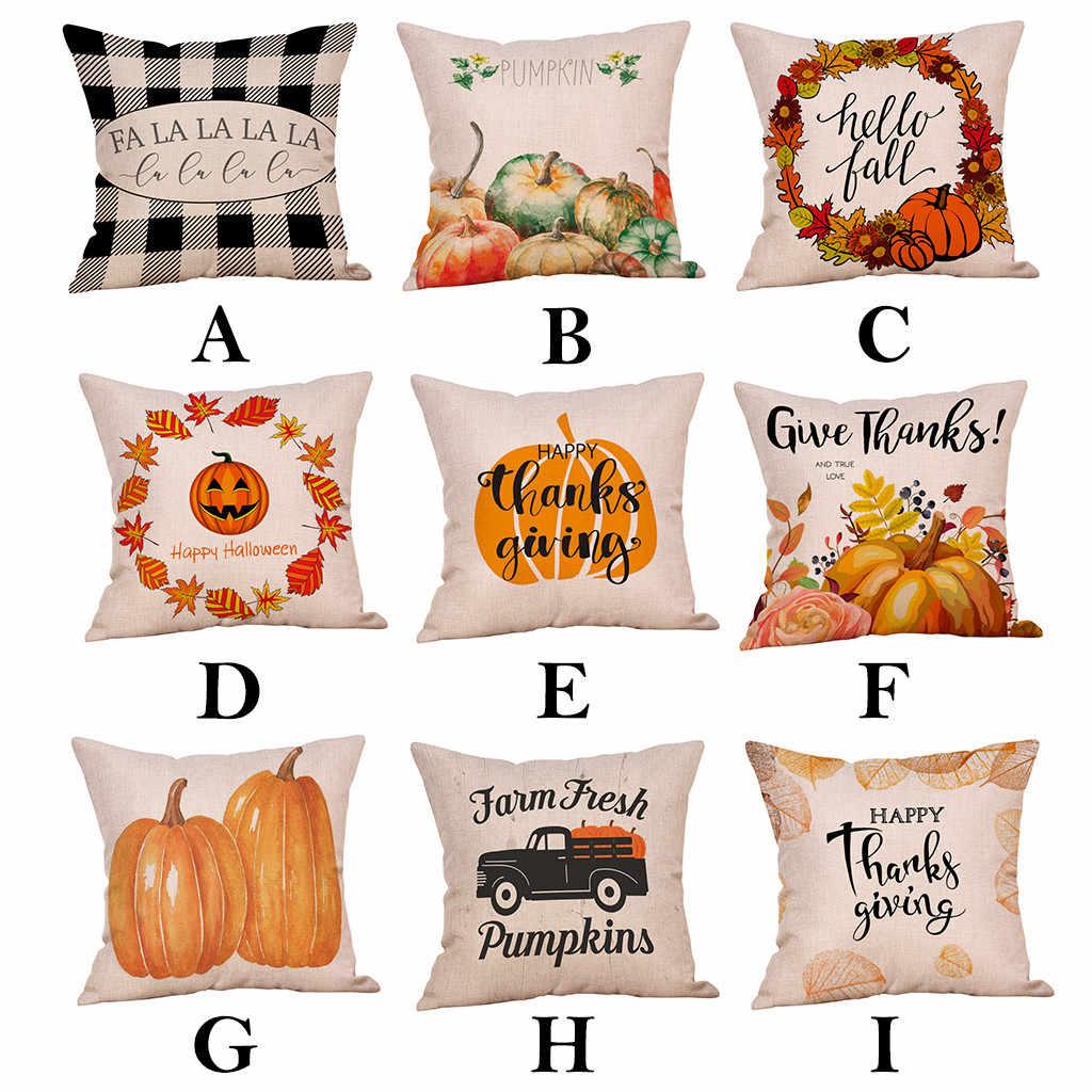 Halloween Bantal Cover Dekorasi Rumah Mobil Sofa Tempat Tidur Huruf Sarung Bantal Housse De Coussin Cojines Bantal Case Bantal Cover Kussenhoes