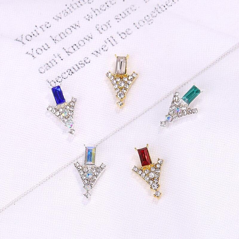 10 шт металлические украшения Стразы для ногтей