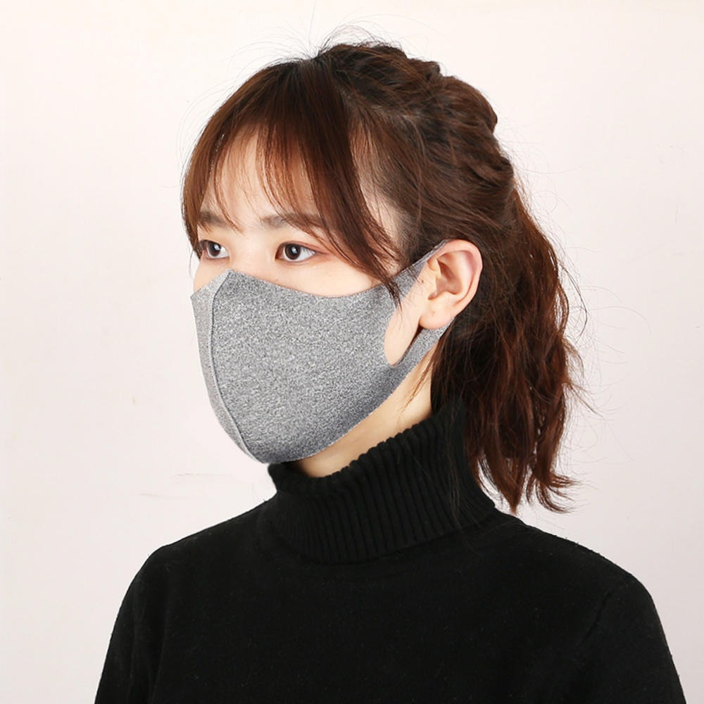 NEW 1PC Black Mouth Mask Breathable Unisex Sponge Face Mask Reusable Anti Pollution Face Shield Wind Proof Mouth Cover