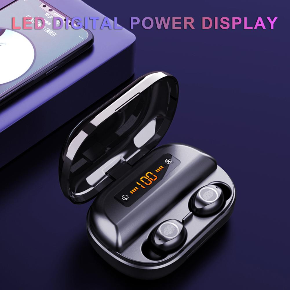 V12 Digital Display Touch Mini TWS Wireless Bluetooth Headset Dual - Ear Bluetooth 5.0 TWS Headset With 4000 MAh Charging Box
