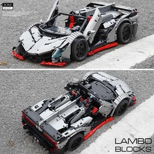 Image 5 - 3427PCS MOC RC Technic Car The Veneno Roadster Power Function Car model Building Blocks Bricks Kids DIY Toys Christmas Gifts