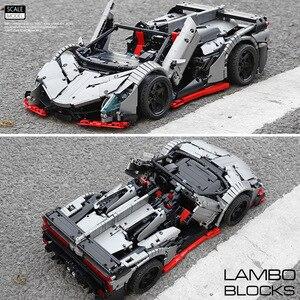 Image 5 - 3427PCS MOC RC TechnicรถVeneno Roadster PowerรถชุดBuilding Blocksอิฐเด็กDIYของเล่นคริสต์มาสของขวัญ