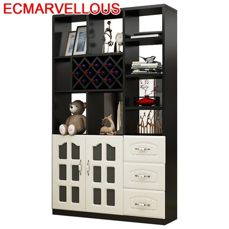 Rack Kast Display Shelves Salon Meja Gabinete Cristaleira Vetrinetta Da Esposizione Commercial Furniture Mueble Bar Wine Cabinet