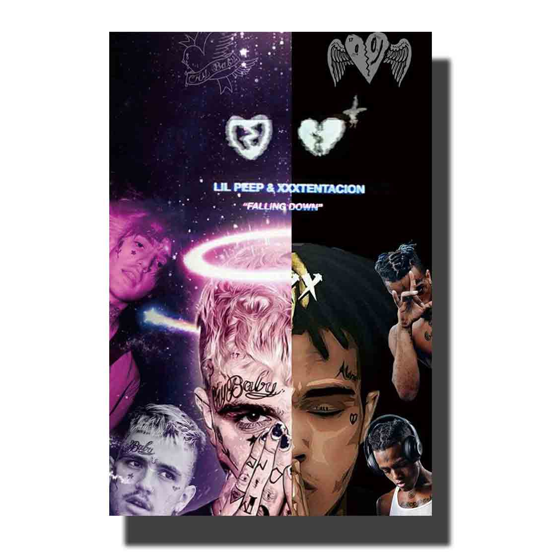 Art Silk Poster Print Room Decor Lil Peep &XXXTentacion Music Singer Wall Pictures 24x36 12x18in Canvas Painting M113