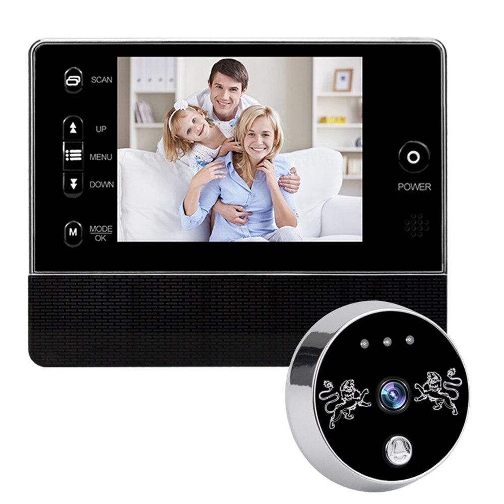 3.5inch Digital Peephole Doorbell Recorder Electronic Door Peephole Mini Camera 120 Degree Wide Angle Video Door Viewer Wireless