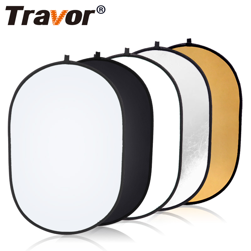 Travor 60x90cm Oval Reflector Portable Photography Studio Photo Collapsible Light Reflector for Outdoor studio reflector