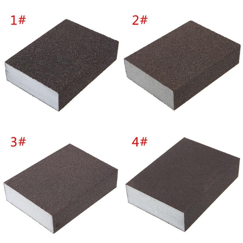 Sanding Block Girt Sponge Polishing Pad Furniture Buffing Sandpaper Tools New 40JE