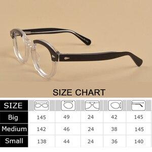 Image 4 - Johnny Depp lunettes optique lunettes cadre hommes femmes acétate lunettes cadre rétro marque avec Logo qualité supérieure 313