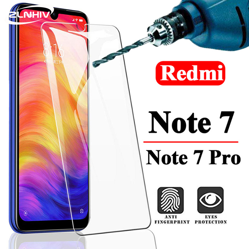 ZLNHIV 9H galss for <font><b>xiaomi</b></font> <font><b>redmi</b></font> <font><b>note</b></font> <font><b>7</b></font> pro 7A <font><b>tempered</b></font> <font><b>glass</b></font> phone screen protector protective film on the <font><b>glass</b></font> smartphone image