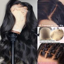 Ciało fala fałszywe skóry głowy peruka 13 #215 6 głębokie koronki przodu peruki z ludzkich włosów niewidoczne Remy PrePlucked bielone węzłów przejrzyste HD koronkowa peruka tanie tanio atina HD koronkowe peruki Remy włosy Średni Ludzki włos Ciemniejszy kolor tylko Swiss koronki 1 sztuka tylko Pół maszyny wykonane i pół ręcznie wiązanej
