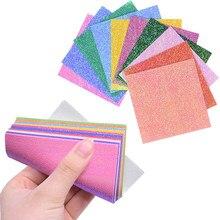 Papier Origami fait à la main, couleur variée, 50pcs papiers Origami, coupeur artisanal bricolage décoratif de cadeaux de Scrapbooking