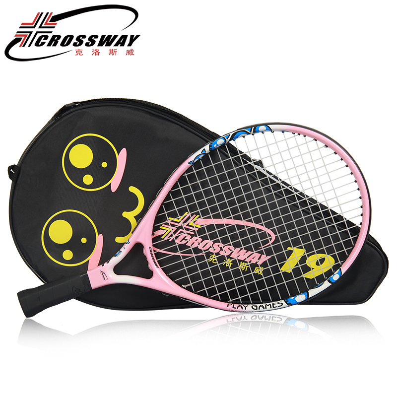 Купить с кэшбэком Children Tennis Racket Set Kids Carbon Paddle Raqueta Ultra Light Carbon Bat Toddler Set 9/21/23 Inch Tennis Sport Trainer