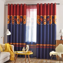 American Style Personality Curtains for Children's Room Curtain British Boys and Girls Bedroom Floating Window