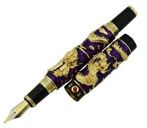 Image 2 - Jinhao stylo fontaine à Double Dragon fait à la main, Iridium EF/F/M/Bent, stylo cadeau pour diplômé, écriture artisanale avancée
