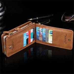 Image 4 - Funda de teléfono de cuero para Samsung Galaxy S20 Ultra S10 E S9 S8 Plus S7 S6 Edge, BILLETERA, funda de tarjeta para Samsung Note 20 10 9 8 5