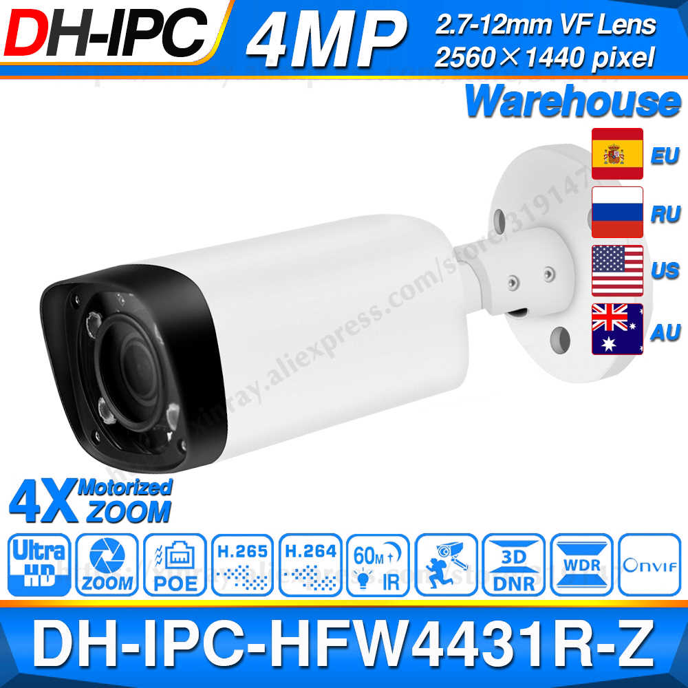 Dahua IPC-HFW4431R-Z 4MP Night Camera 60 M Ir 2.7 ~ 12 Mm Vf Lens Zoom Autofocus 80M Ir bullet H.265 Poe Ip Camera Cctv HFW4431R-Z