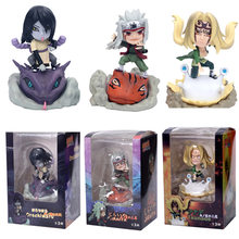 Anime Naruto Shippuden Gama Sennin Ero-Sennin Jiraiya Gamabunta Orochimaru Tsunade PVC Action Figure Collectible Model Mainan Boneka(China)