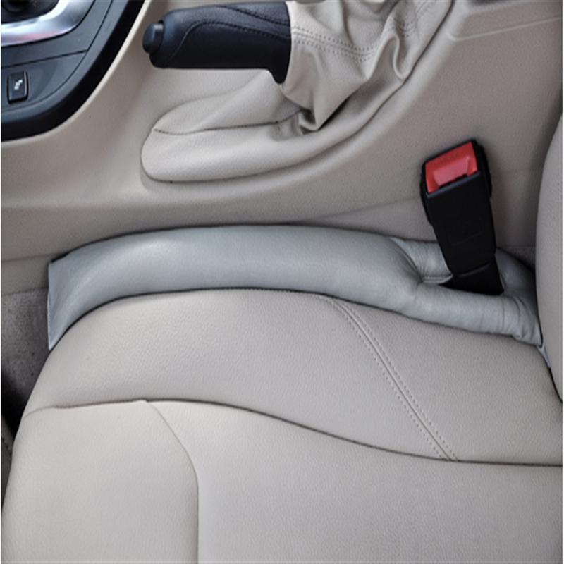 Livraison gratuite gris noir Beige marron coussin de siège de voiture Crevice Gap bouchon PU cuir protecteur étanche housse de siège de voiture nouveau