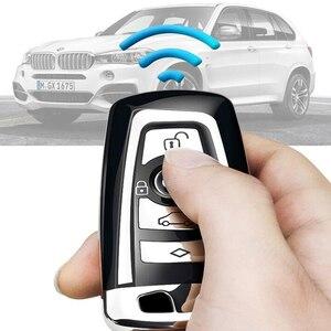 Image 5 - High Quality TPU Chrome Car Key Cover Key Bag fit for BMW X3 X4 X5 X6 1/3/5/7 Series M3 Key Shell Protector Auto Key Case Chains