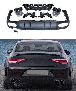 PP Черный Автомобильный задний бампер, диффузор, спойлер, подходит для Mercedes-Benz CLS Class C257 Sport 2019 2020, не для CLS53 AMG