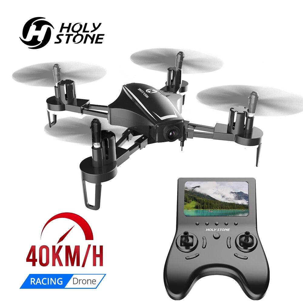 Pedra sagrada hs230 rc zangão racing 5.8g fpv wifi drones selfie siga-me 120 ângulo 720 p hd câmera 40 km/h lcd quadcopter