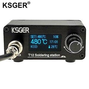 Image 2 - Ksger ミニ T12 はんだステーション diy STM32 V2.0 oled T12 のヒント溶接キット abs プラスチックハンドル亜鉛スタンドクイック加熱