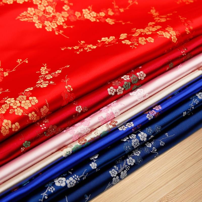 Jacquard fabric Brocade Fabric  for sewing Kimono and Cheongsam satin fabric for DIY