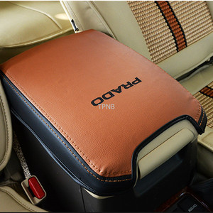 Image 2 - Genuine Leather Car Styling Armrest Box Cover for Toyota Land Cruiser Prado 120 2003 2004 2005 2006 2007 2008 2009 Accessories