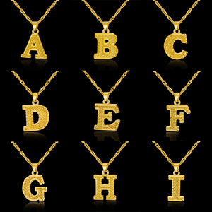 Fashion 26 Initial Letter Neckaces For Women Men Chic Jewelry Collier Femme Alphabet Initial Name Necklace Birthday Jewelry Gift