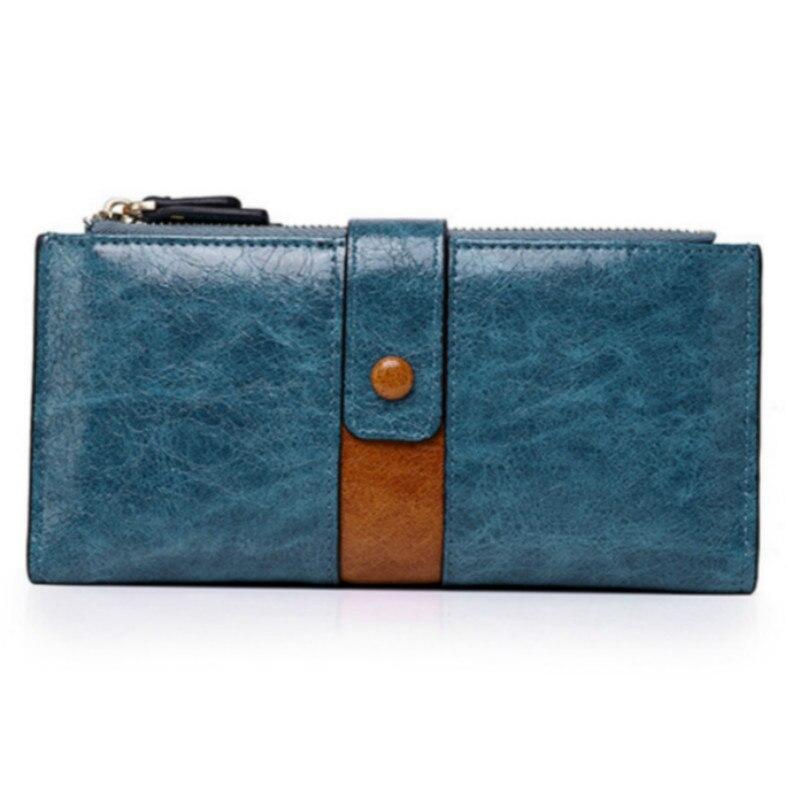 Women Wallets Female Fashion Splice Zipper Purse Women's Leather Wallet Cards Holder Long Large Capacity Purses