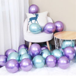 10 pcs 12 inch/18 inch New Glossy Silver Gold Metallic Latex Balloons Wedding Birthday Party Decorations Inflatable Air Balloons