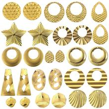 10pcs/Lot Stainless Steel Gold Earring Pendants Jewelry Accessories Charms For DIY Earring Jewelry Making Findings