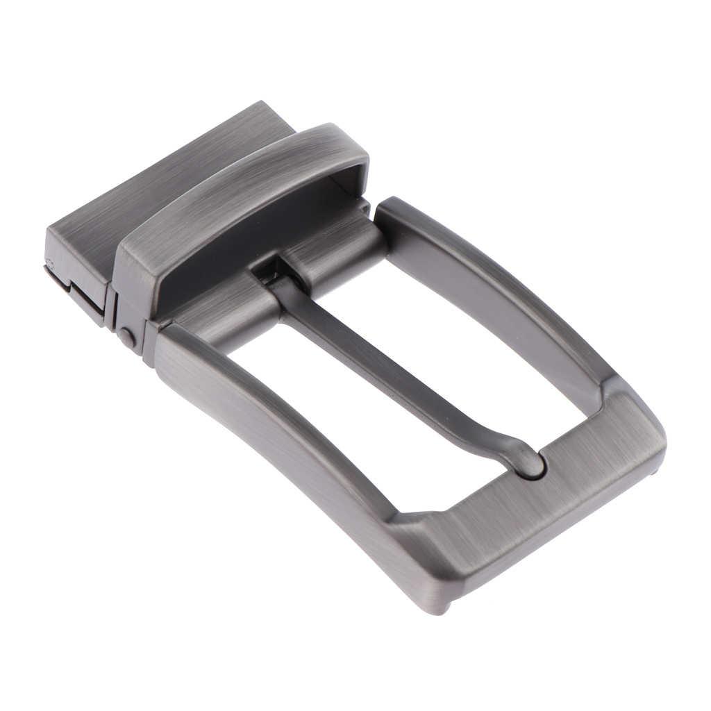 Men/'s Reversible Alloy Belt Buckle Replacement Pin Buckle Rectangular Silver