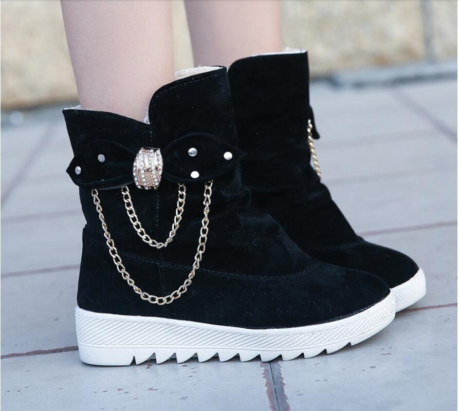 2019 Winter New Snow Boots Women's Boots Women's Tube Casual Bow Snow Boots Warm Cold Burning Feet Women's Boots Cotton Shoes 60
