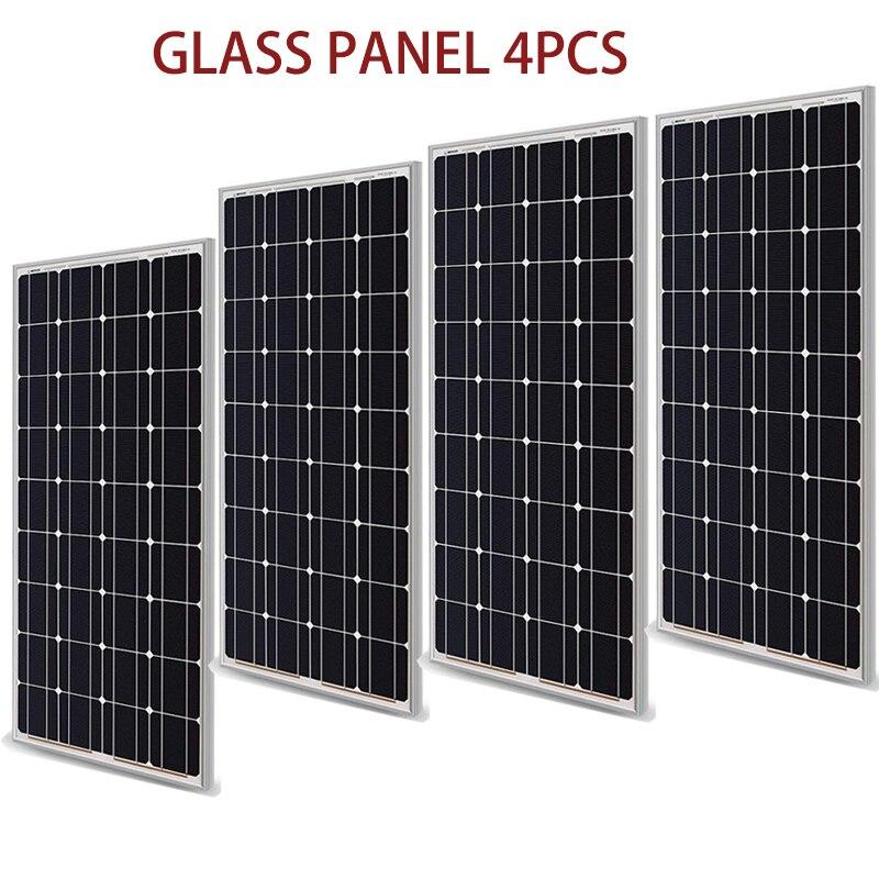 400W panneau solaire égal 4 pièces 100w A grade cellule solaire monocristallin 12V 24V chargeur de batterie 17% charge efficacité