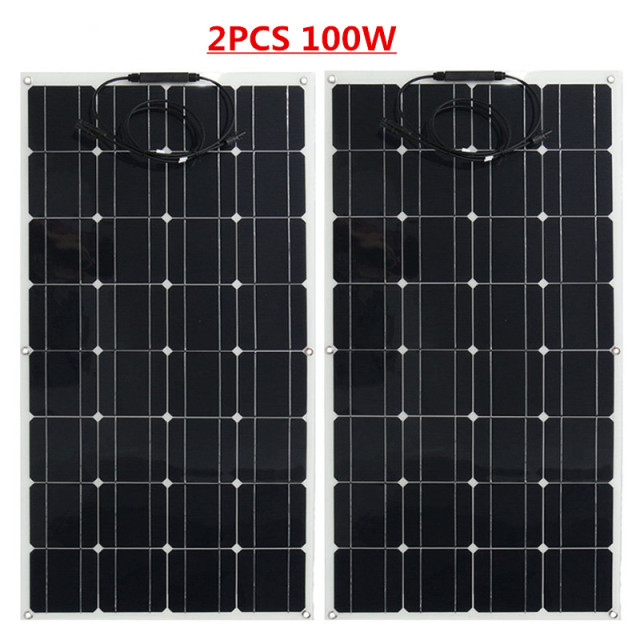 100W Flexible Solar Panel 12V Solar charger A Grade Monocrystalline solar cell