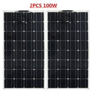 Image 4 - Çin esnek GÜNEŞ PANELI 100W/200W 300W /400W monokristal güneş pili esnek panel güneş için 12V 24 volt güneş enerjisi sistemi kiti