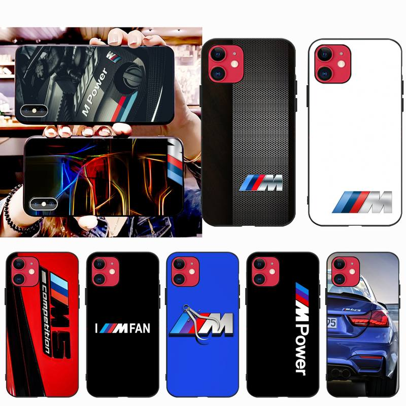 Blue Red Car for Bmw Phone Case for iphone 12 pro max 11 pro XS MAX 8 7 6 6S Plus X 5S SE 2020 XR case image