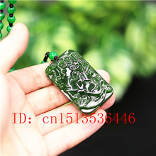 Chinese Green Jade Pixiu Pendant Necklace Charm Jadeite Jewelry Carved Amulet Fashion Accessories Gifts for Women Men(China)