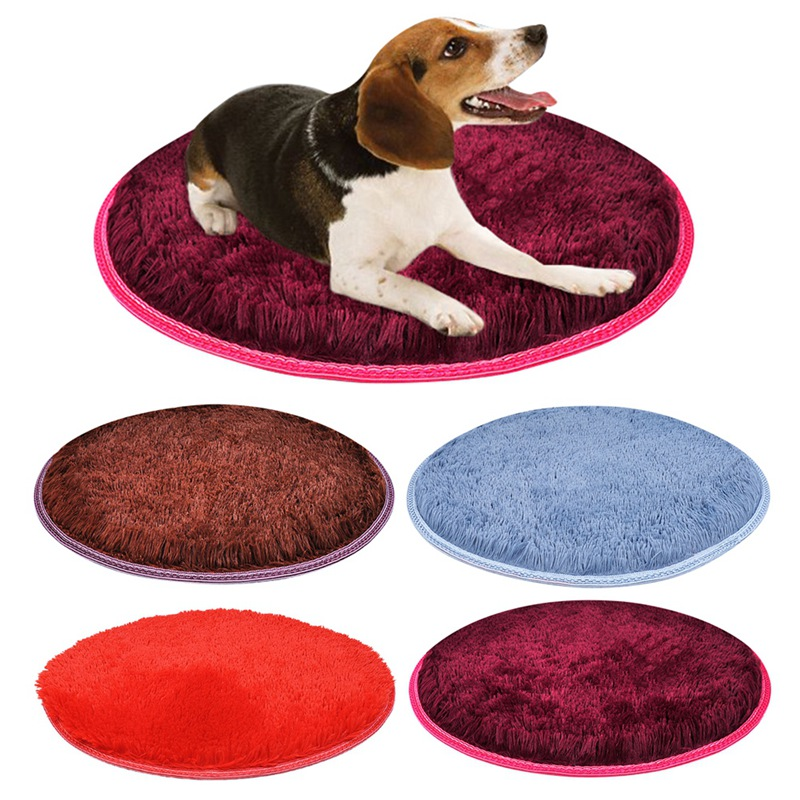 Warm Fleece Dog Bed Round Pet Long Plush Cushion For Small Medium Large Dogs & Cat Winter Dog Kennel Puppy Mat Pet Bed 2
