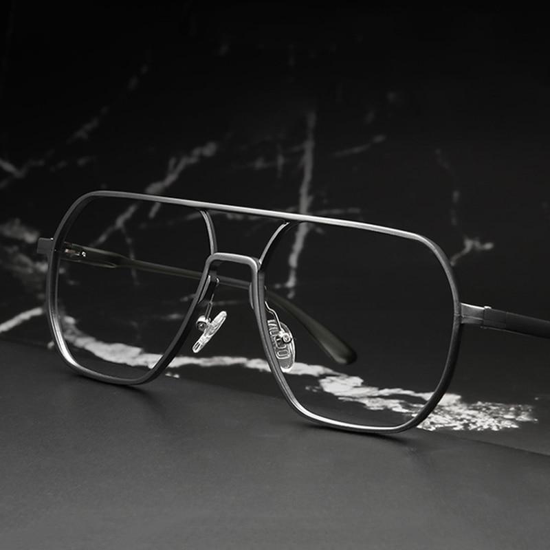 Aluminum Vintage Oversized Glasses Frame Men Women Computer Blue Light Blocking Glasses Optical Eyeglasses Frames Eyewear Oculos