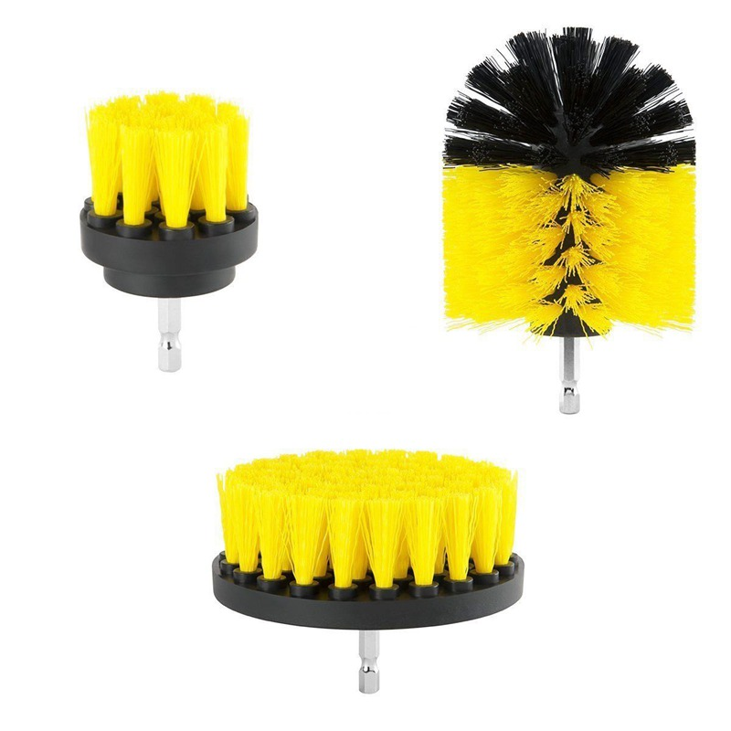 3pcs Eletric Drill Brush Tile Grout Power Scrubber Cleaning Tub Cleaner Combo Tool For Power Tools|Squeegees| |  -