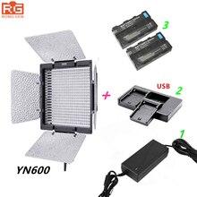 Yongnuo yn600 yongnuo YN 600L 3200 5500k led luz de vídeo + adaptador ac + 2 * NP F550 + carregador usb