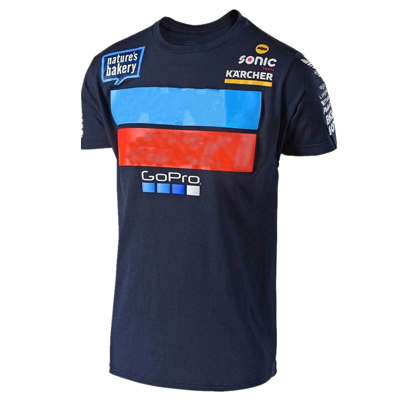 Free shipping 2019 Motorcycle Dirt Bike Mountain Bicycle Moto T-shirt Summer Men s Blue T Shirt
