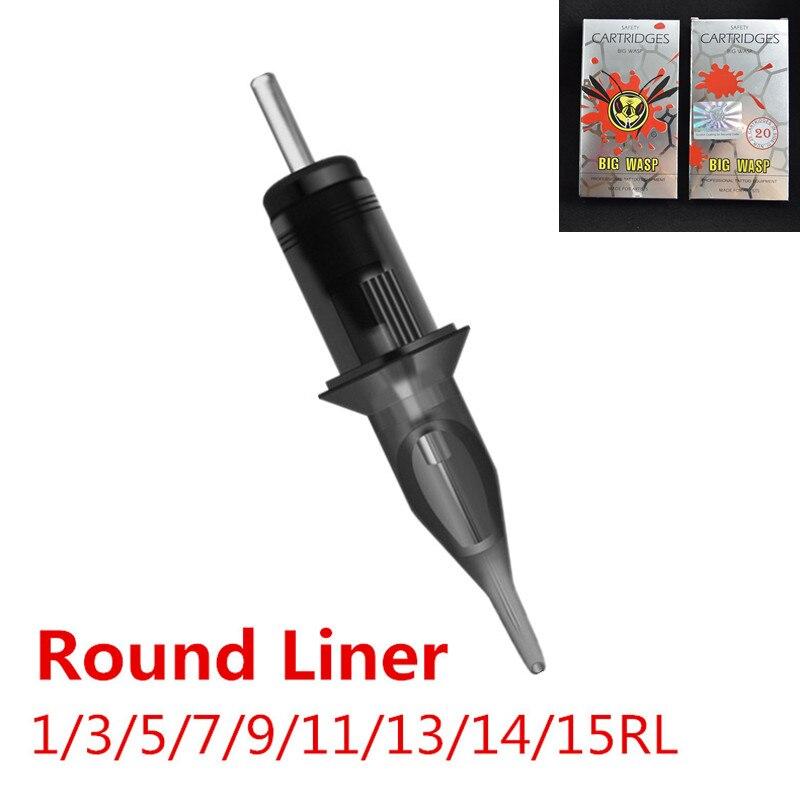 BIG WASP Evolved Tattoo Needle Cartridges Round Liner 1RL 3RL 5RL 7RL 9RL 11RL 13RL 14RL 15RL Supply