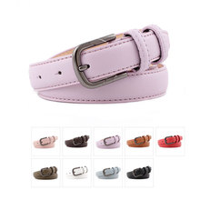 Classic Women Leather Belt Fashion Belts New Waistband Luxury Strap Metal Pin Buckle w/2.3c