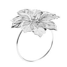 6 упаковок кольца для салфеток, золотые кольца для пряжки для украшения стола, свадьба, ужин, вечерние, DIY украшения, серебро